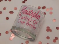 Personalised Wedding Tumbler Glass With Name & Role